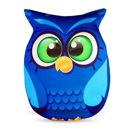 Almofada Coruja Azul Formato