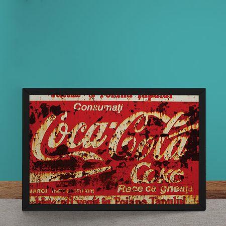 Quadro Decorativo Coca Cola Destroyed Vermelho