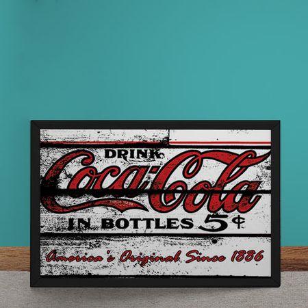 Quadro Decorativo Coca Cola Since 1886 Destroyed Branco