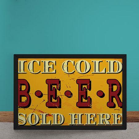Quadro Decorativo Cerveja Gelada