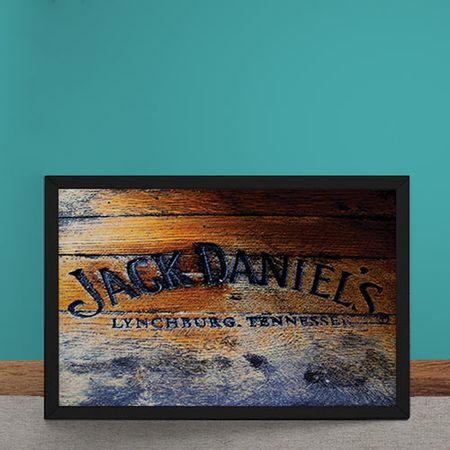 Quadro Decorativo Jack Daniels Estampa Madeira