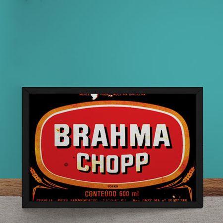 Quadro Decorativo Brahma Chopp