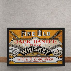 Quadro Decorativo Jack Daniels Whiskey Vintage