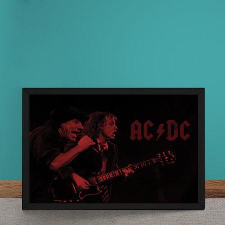 Quadro Decorativo AC DC Vermelho