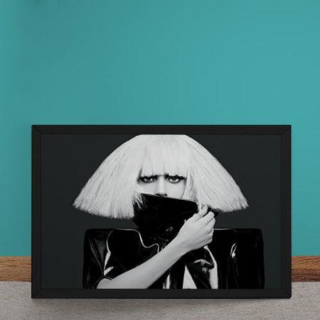 Quadro Decorativo Lady Gaga Horizontal