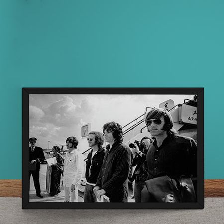 Quadro Decorativo The Doors Desembarque Aviao