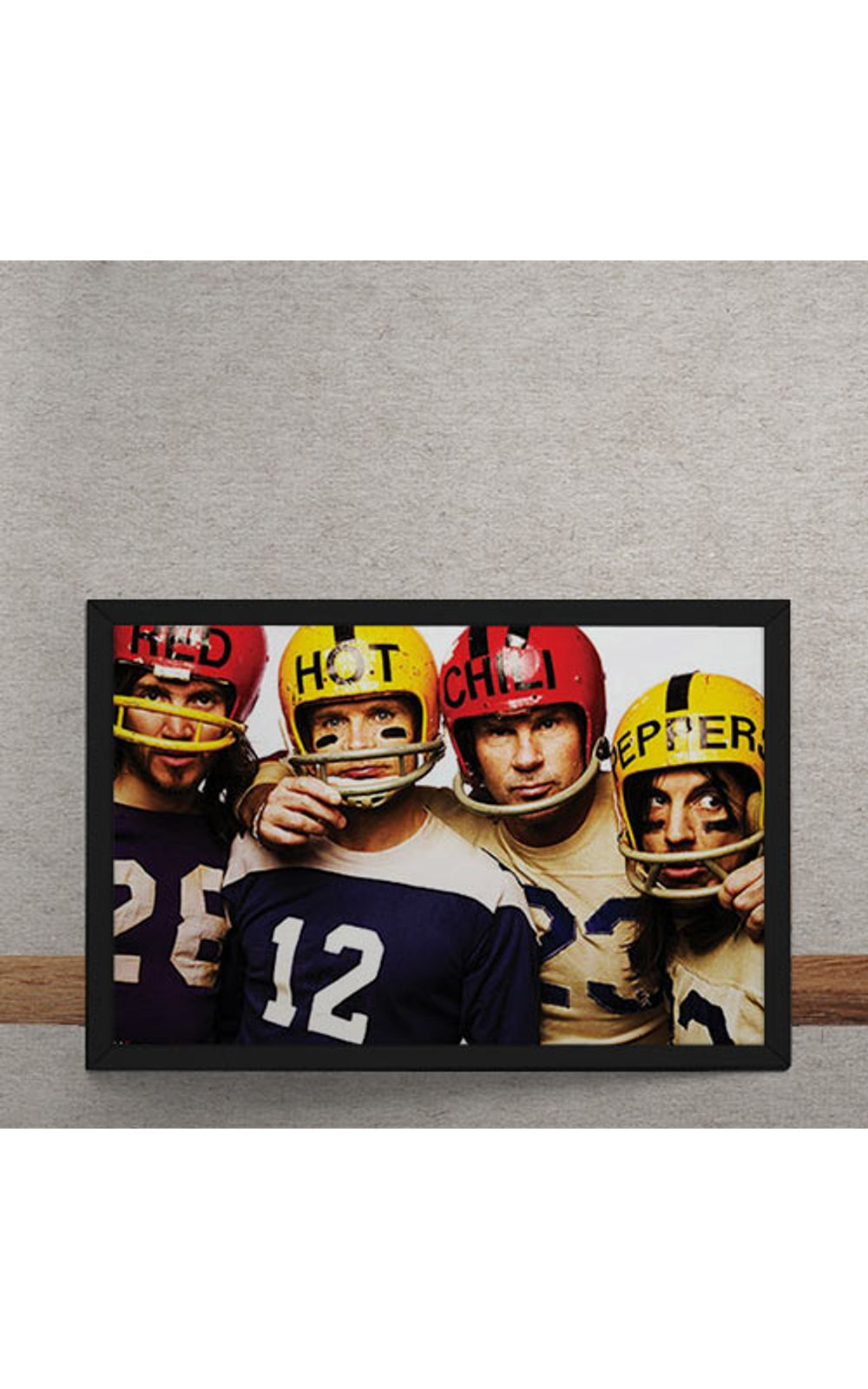 Foto 3 - Quadro Decorativo Red Hot Chili Peppers Futebol Americano