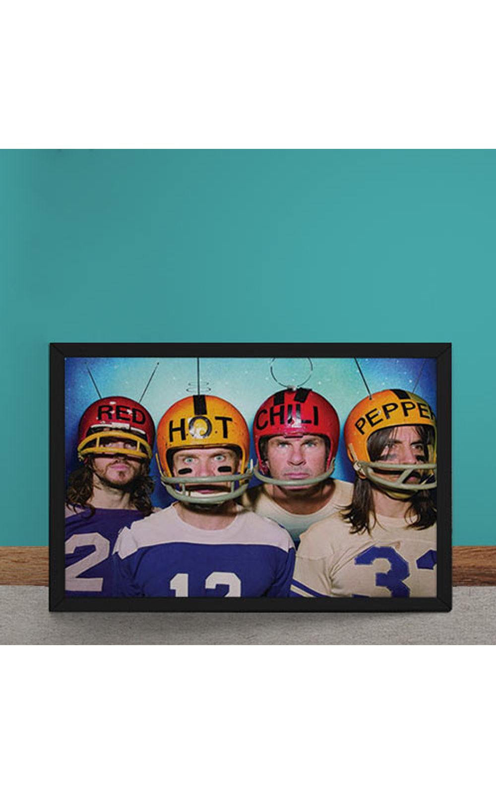 Foto 1 - Quadro Decorativo Red Hot Chili Peppers Futebol Americano
