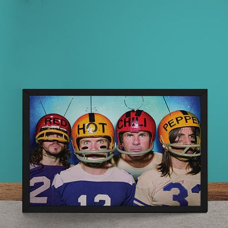 Quadro Decorativo Red Hot Chili Peppers Futebol Americano