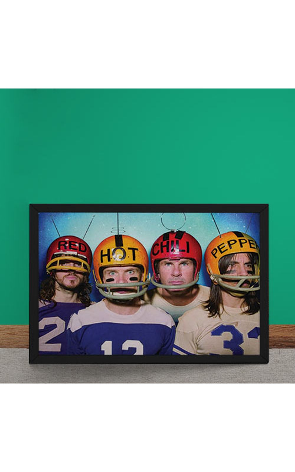 Foto 2 - Quadro Decorativo Red Hot Chili Peppers Futebol Americano