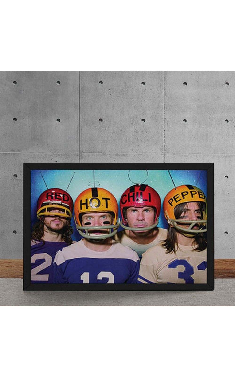 Foto 5 - Quadro Decorativo Red Hot Chili Peppers Futebol Americano