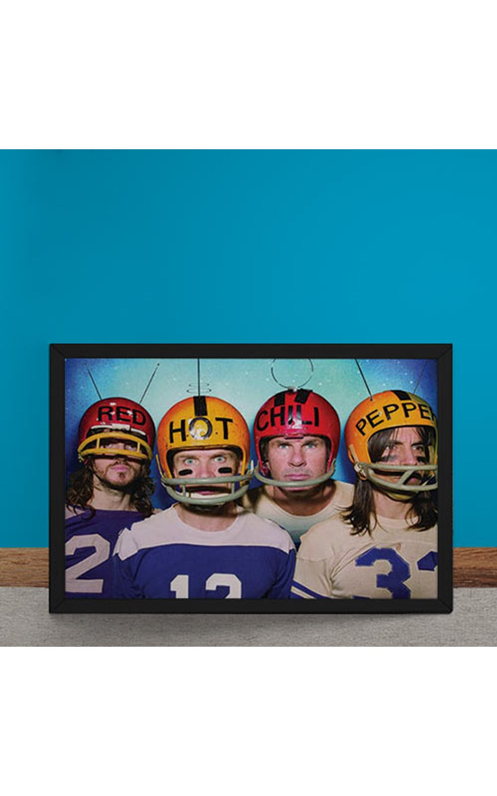 Foto 6 - Quadro Decorativo Red Hot Chili Peppers Futebol Americano