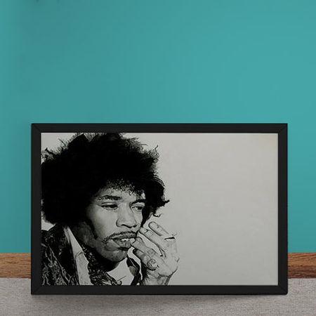 Quadro Decorativo Jimi Hendrix Cigarro