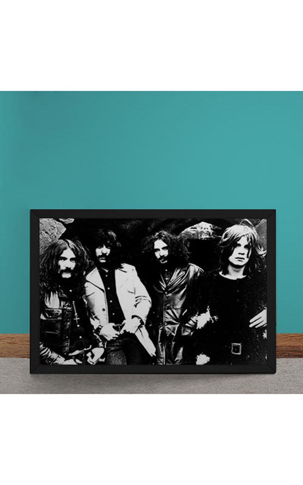 Foto 1 - Quadro Decorativo Black Sabbath Fotografia Antiga