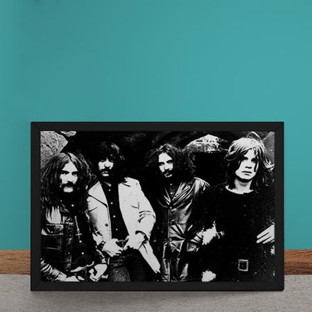 Quadro Decorativo Black Sabbath Fotografia Antiga