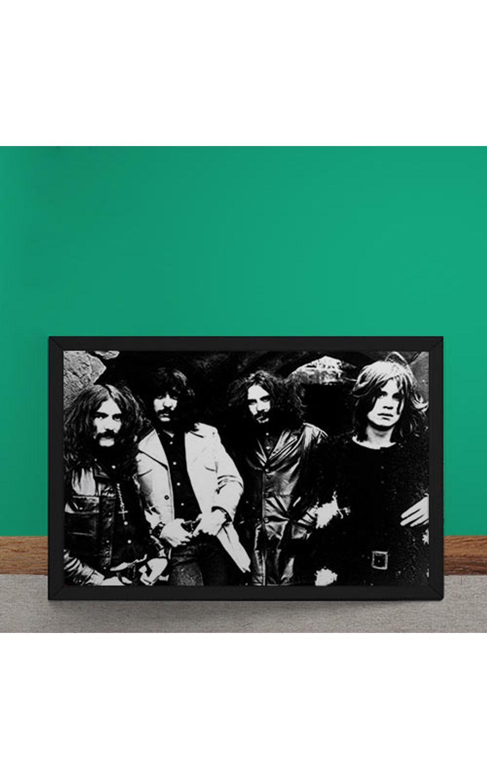 Foto 2 - Quadro Decorativo Black Sabbath Fotografia Antiga