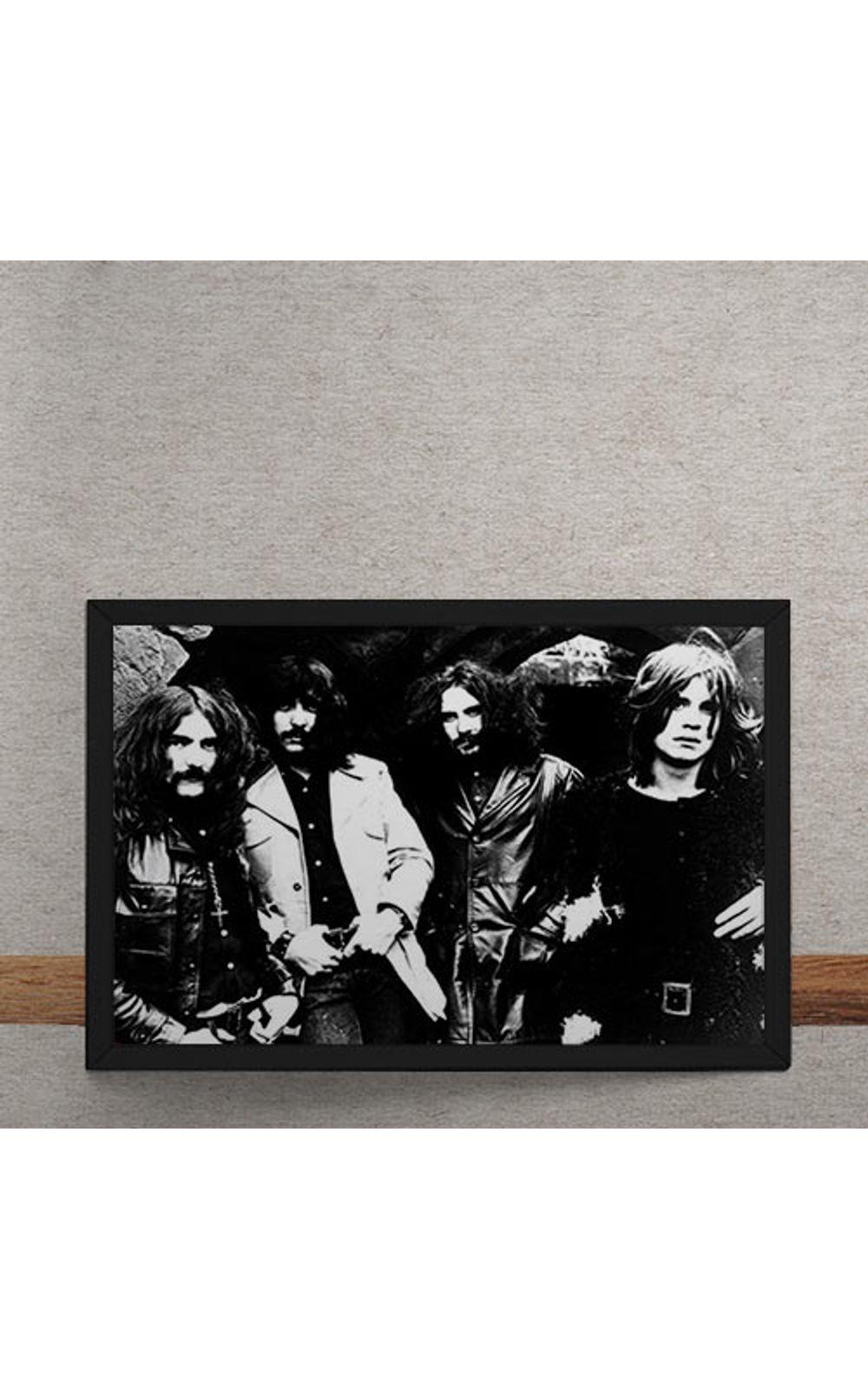Foto 3 - Quadro Decorativo Black Sabbath Fotografia Antiga