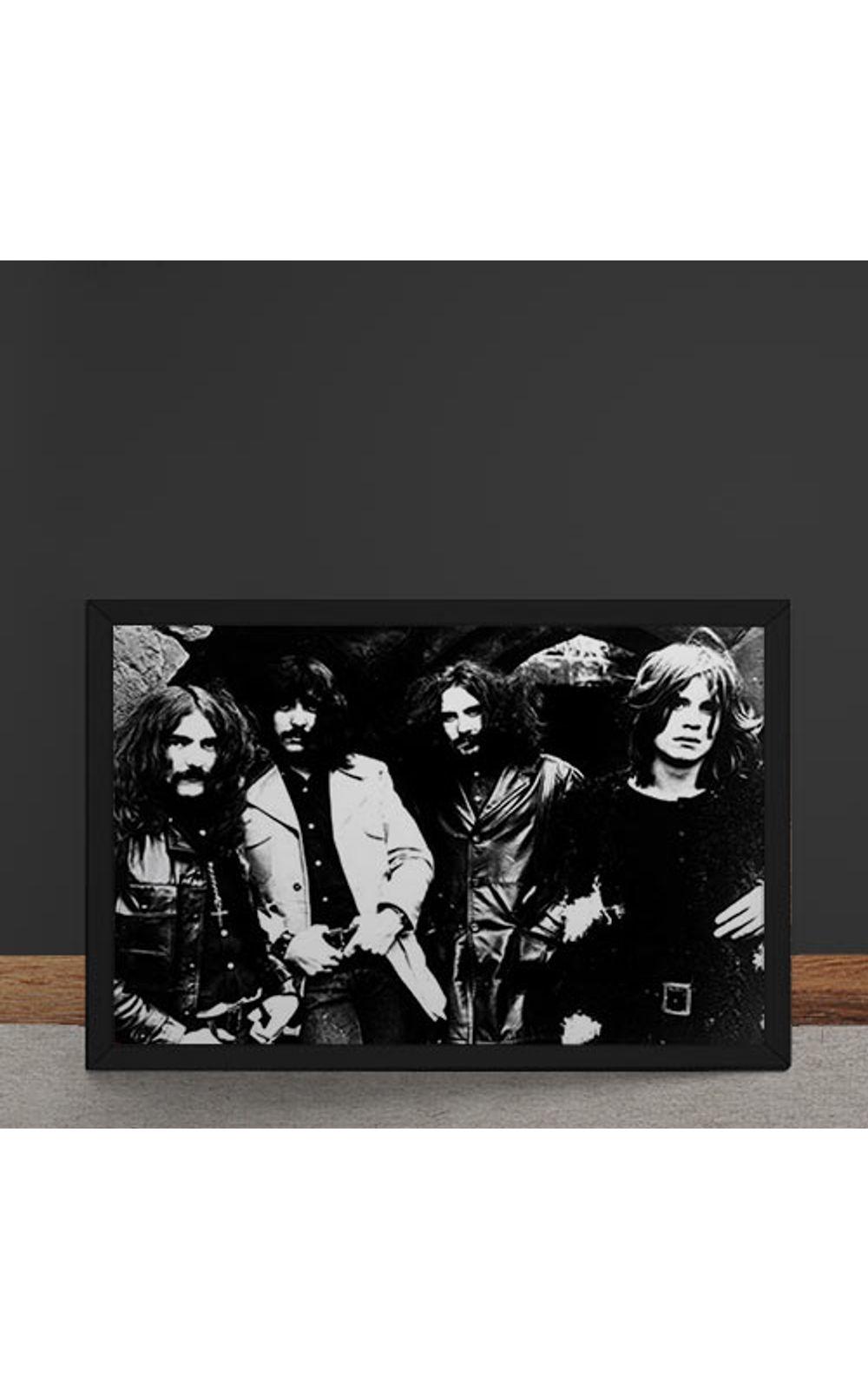 Foto 4 - Quadro Decorativo Black Sabbath Fotografia Antiga