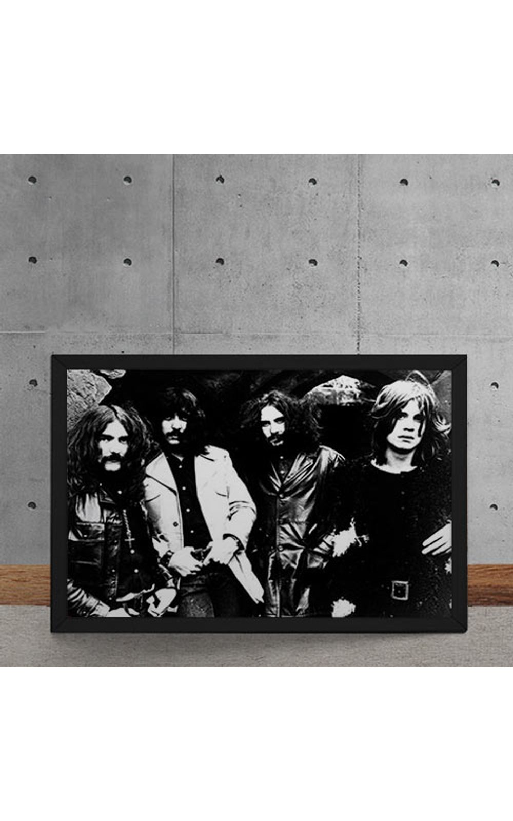 Foto 5 - Quadro Decorativo Black Sabbath Fotografia Antiga