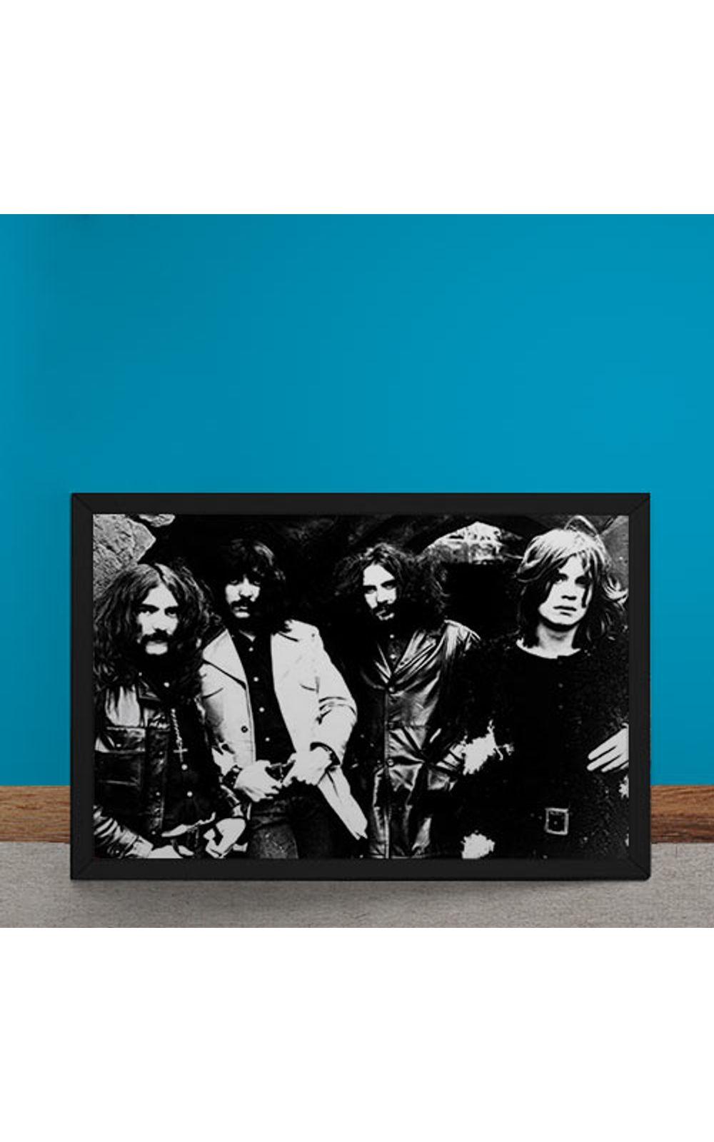 Foto 6 - Quadro Decorativo Black Sabbath Fotografia Antiga