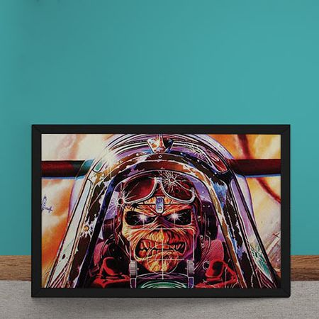 Quadro Decorativo Iron Maiden Ed Hunter Aviador