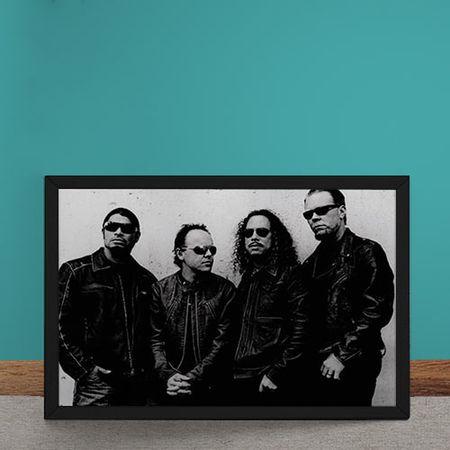 Quadro Decorativo Metallica Fotografia