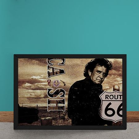 Quadro Decorativo Johnny Cash Rota 66