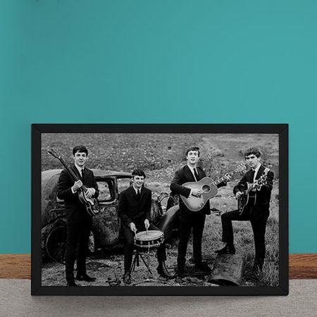 Quadro Decorativo The Beatles Fotografia Antiga