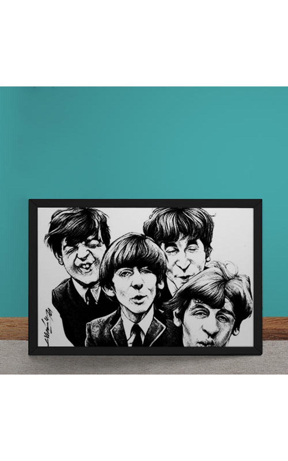 Foto 1 - Quadro Decorativo Beatles Caricatura
