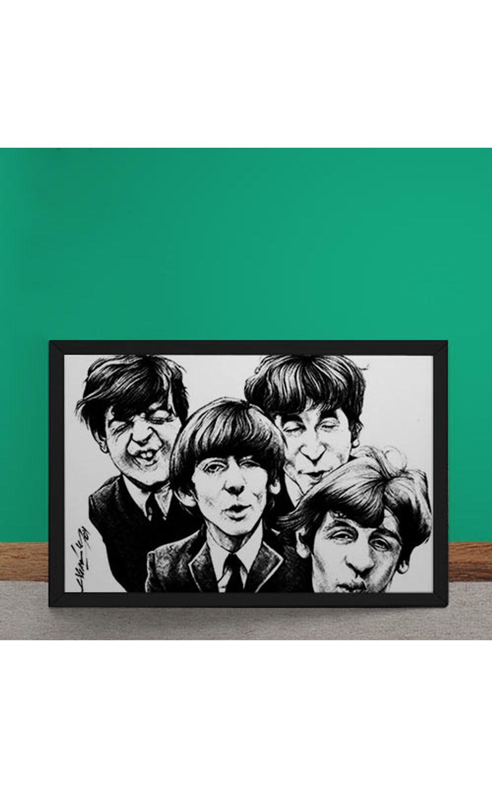 Foto 2 - Quadro Decorativo Beatles Caricatura