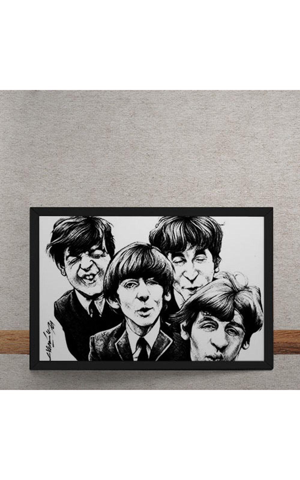 Foto 3 - Quadro Decorativo Beatles Caricatura