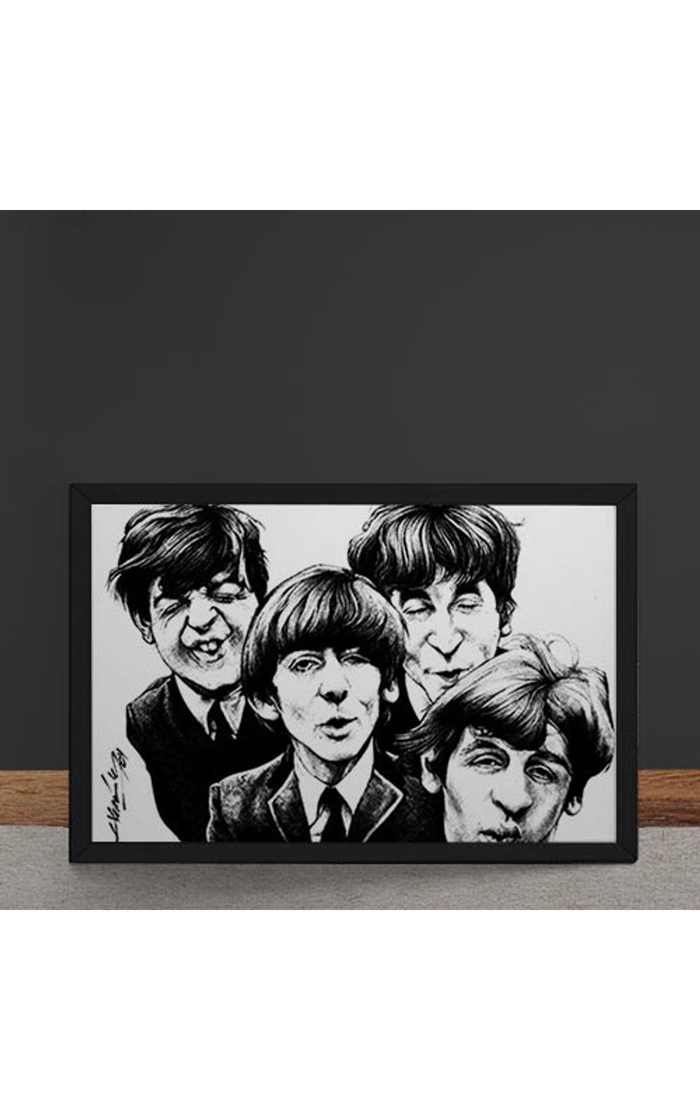 Foto 4 - Quadro Decorativo Beatles Caricatura