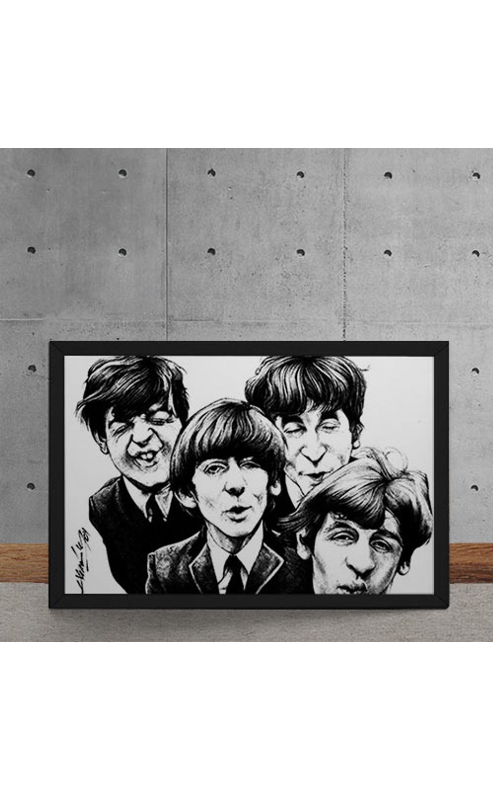 Foto 5 - Quadro Decorativo Beatles Caricatura