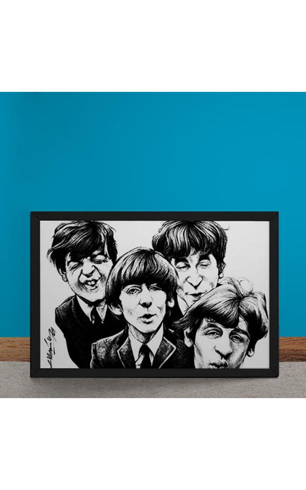 Foto 6 - Quadro Decorativo Beatles Caricatura