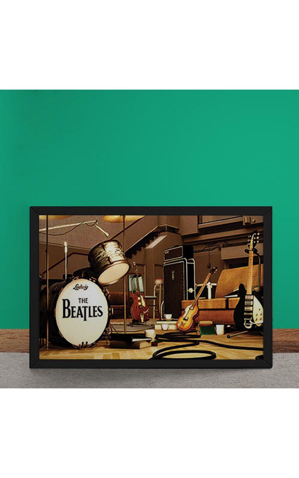 Foto 1 - Quadro Decorativo Beatles Palco Instrumentos