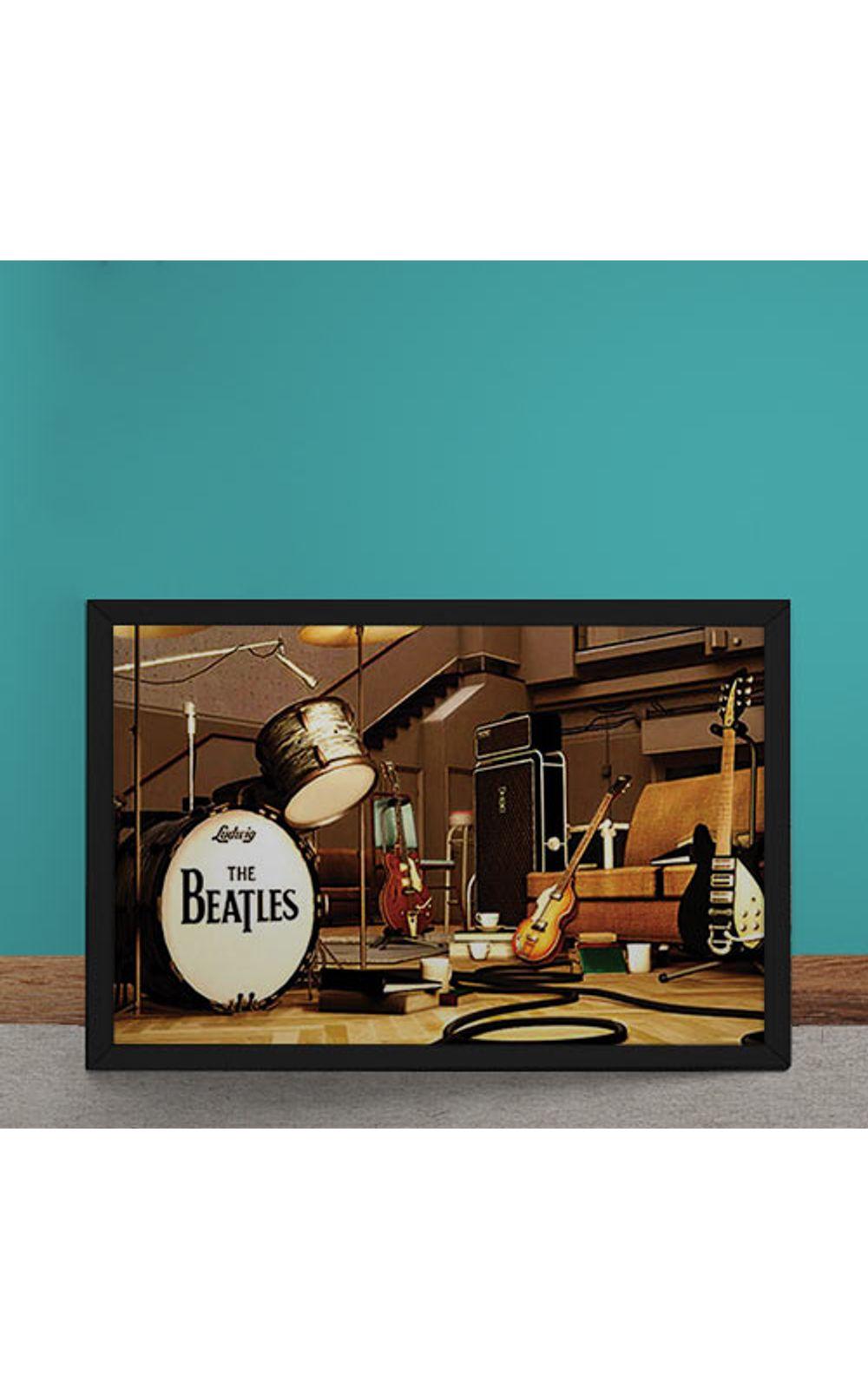 Foto 2 - Quadro Decorativo Beatles Palco Instrumentos