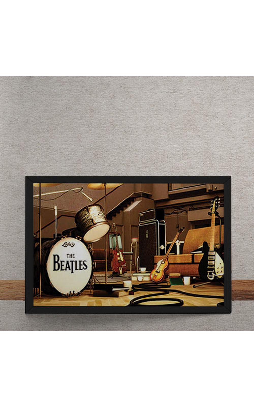 Foto 3 - Quadro Decorativo Beatles Palco Instrumentos