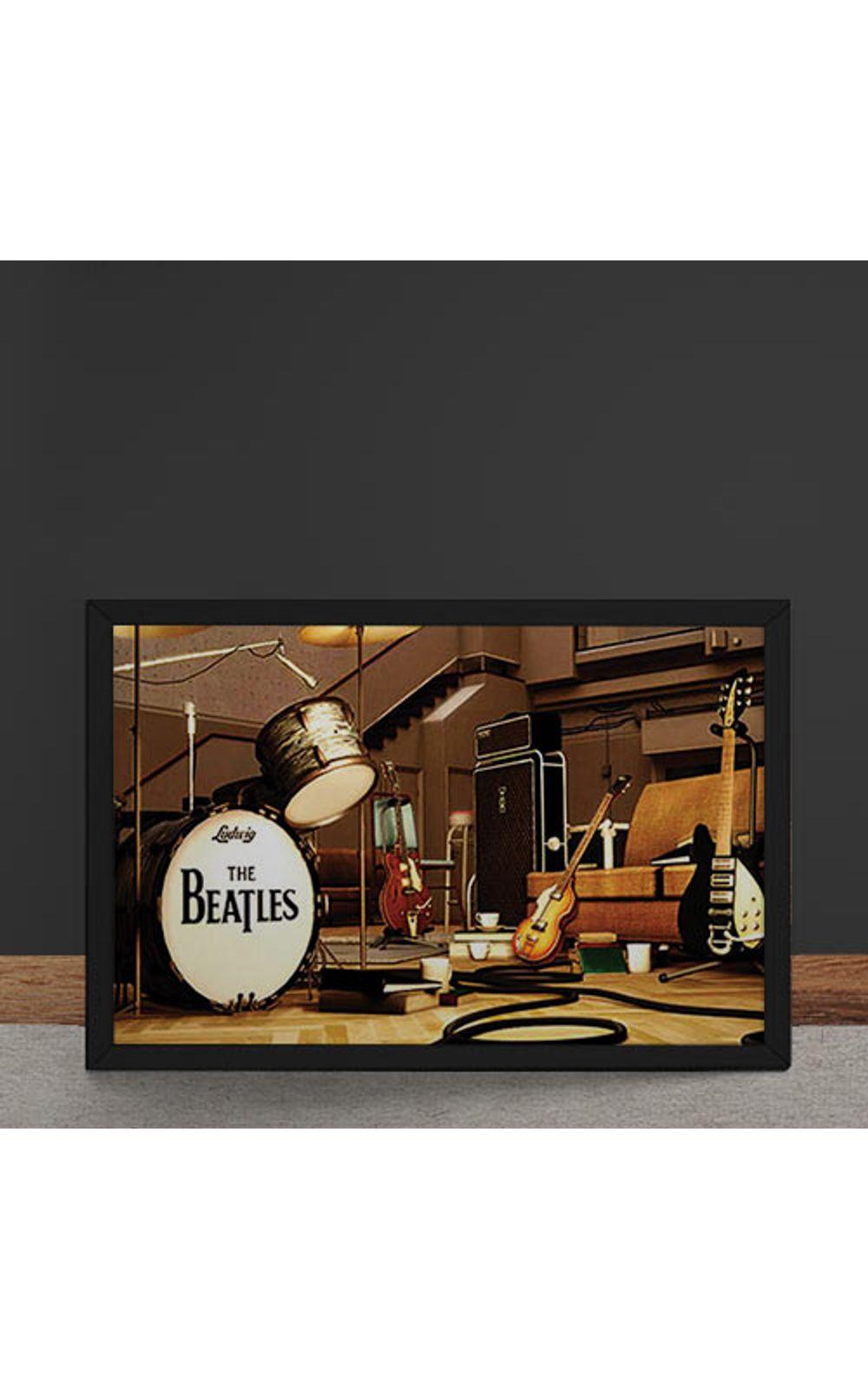 Foto 4 - Quadro Decorativo Beatles Palco Instrumentos