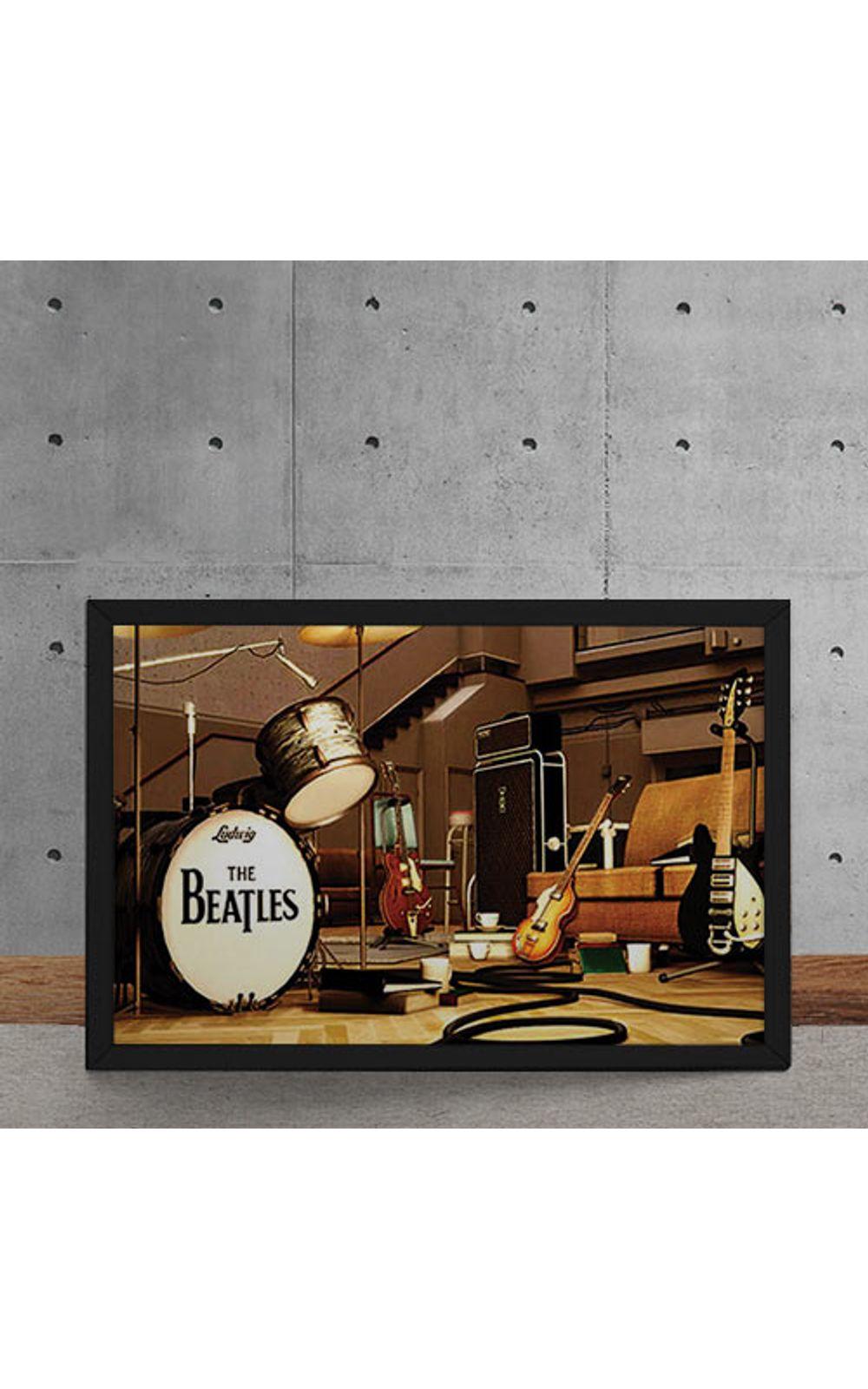 Foto 5 - Quadro Decorativo Beatles Palco Instrumentos