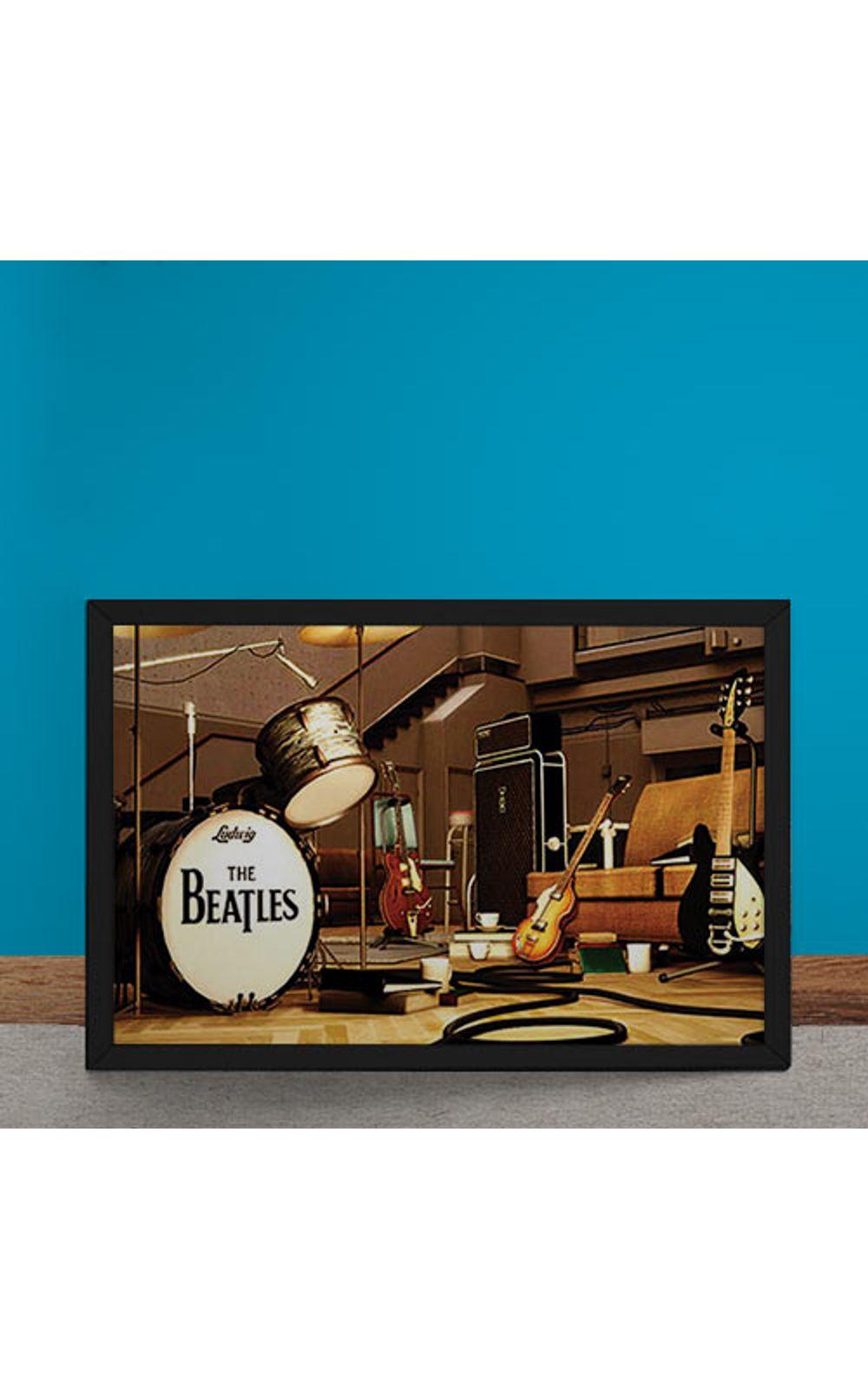 Foto 6 - Quadro Decorativo Beatles Palco Instrumentos