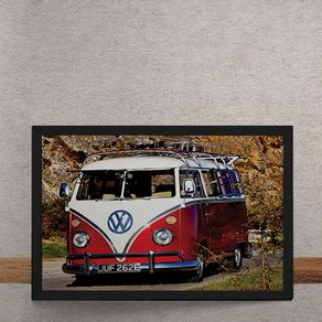 Carro-Volkswagen-Kombi-Branco-e-Vermelho-tecido