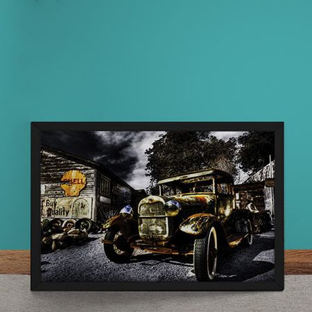 Quadro Decorativo Bentley Posto Shell
