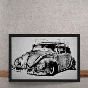 Carro-Volkswagen-Fusca-Ilustracao-tecido