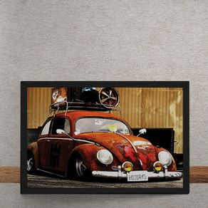 Carro-Volkswagen-Fusca-Vermelho-Rebaixado-tecido