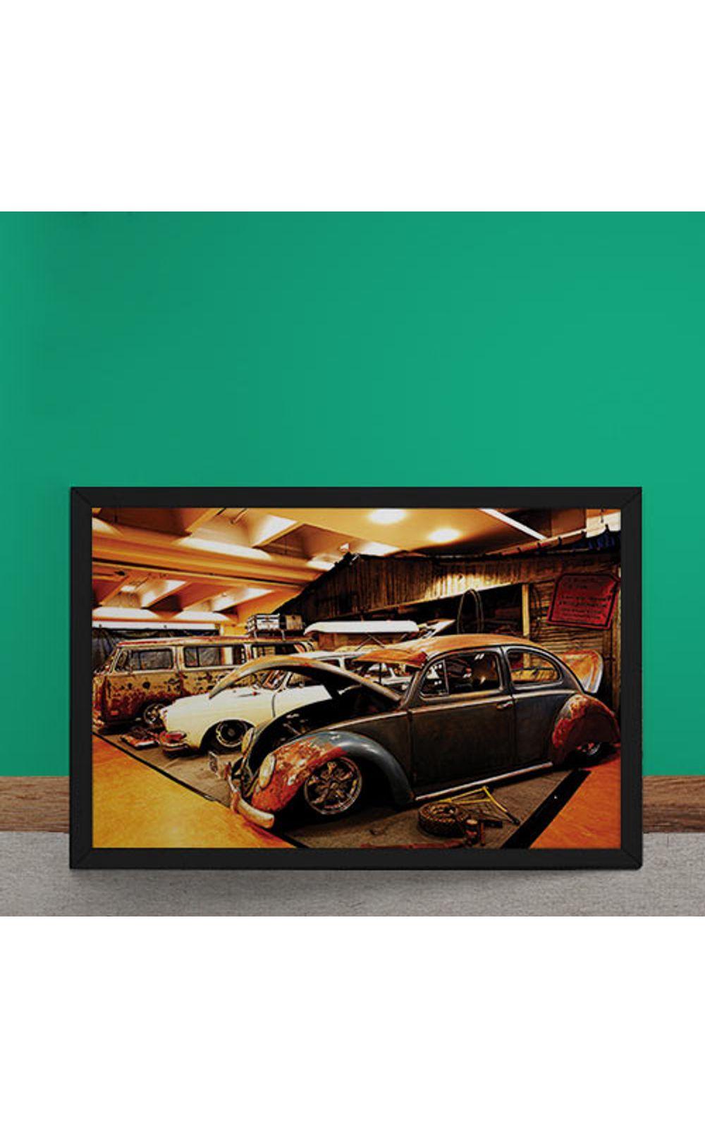 Foto 2 - Quadro Decorativo Carro Volkswagen Rat Look