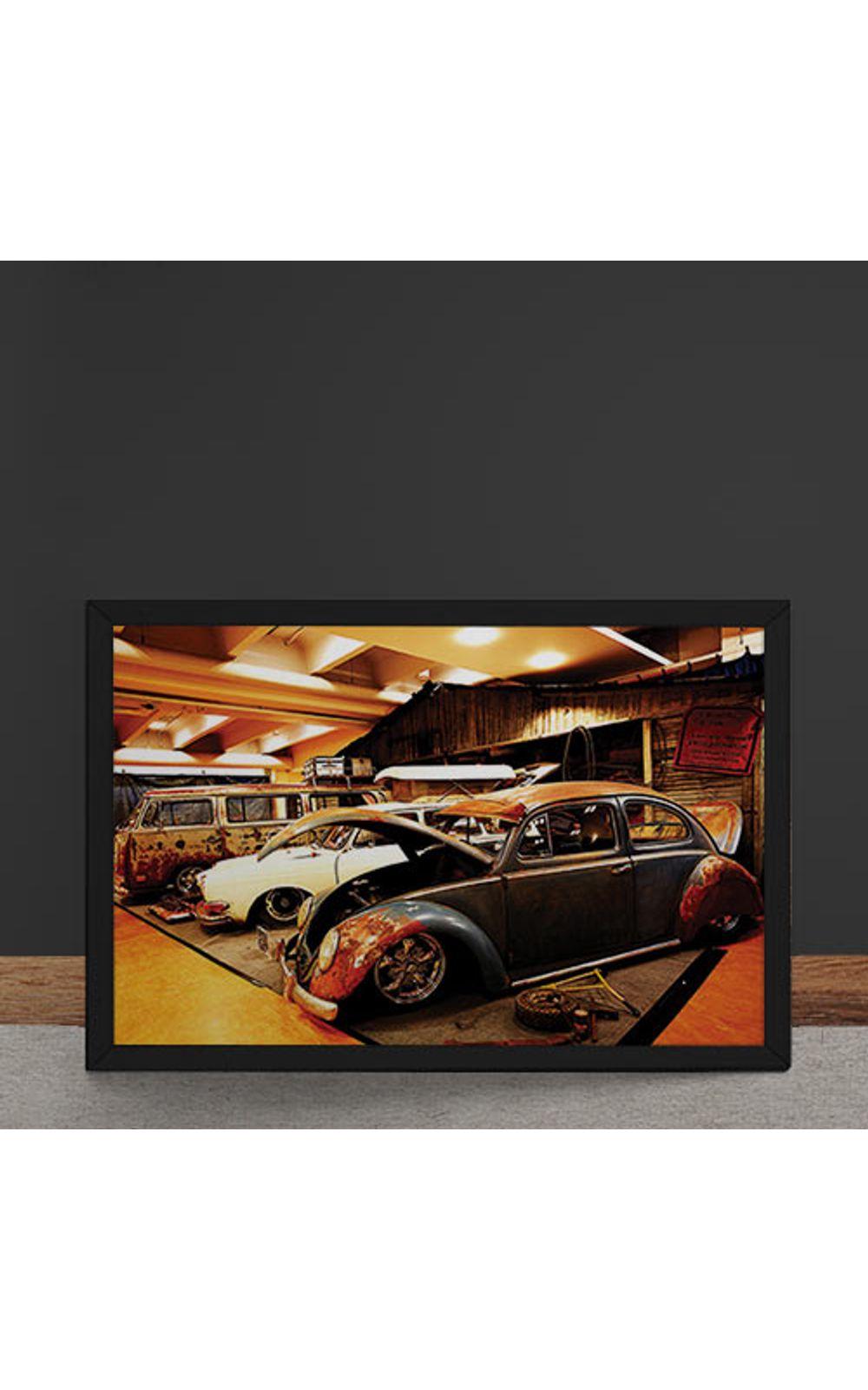 Foto 4 - Quadro Decorativo Carro Volkswagen Rat Look