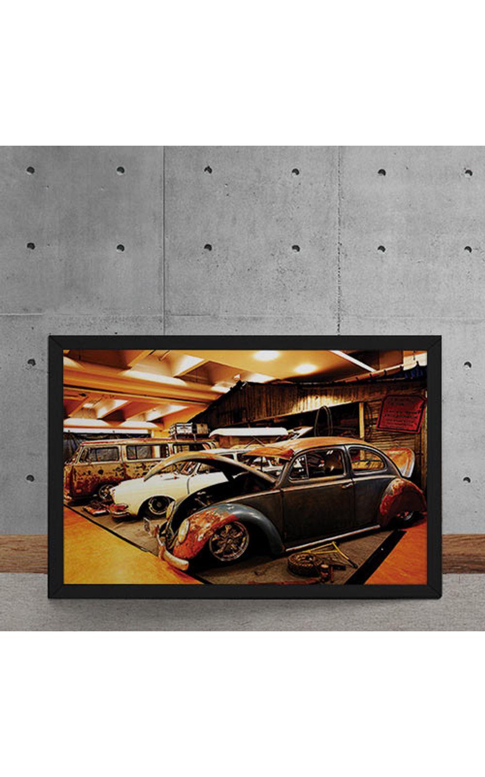 Foto 5 - Quadro Decorativo Carro Volkswagen Rat Look