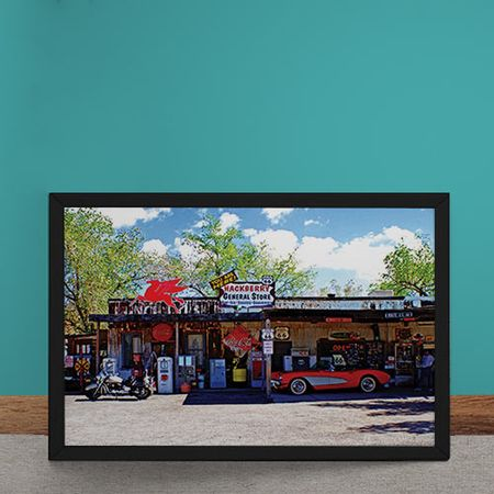 Quadro Decorativo Hackberry General Store Rota 66