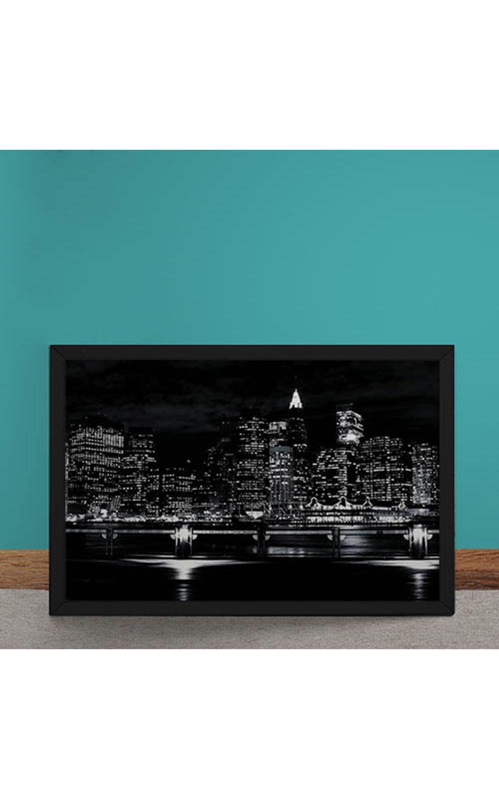 Foto 1 - Quadro Decorativo Luzes Noturna da Cidade
