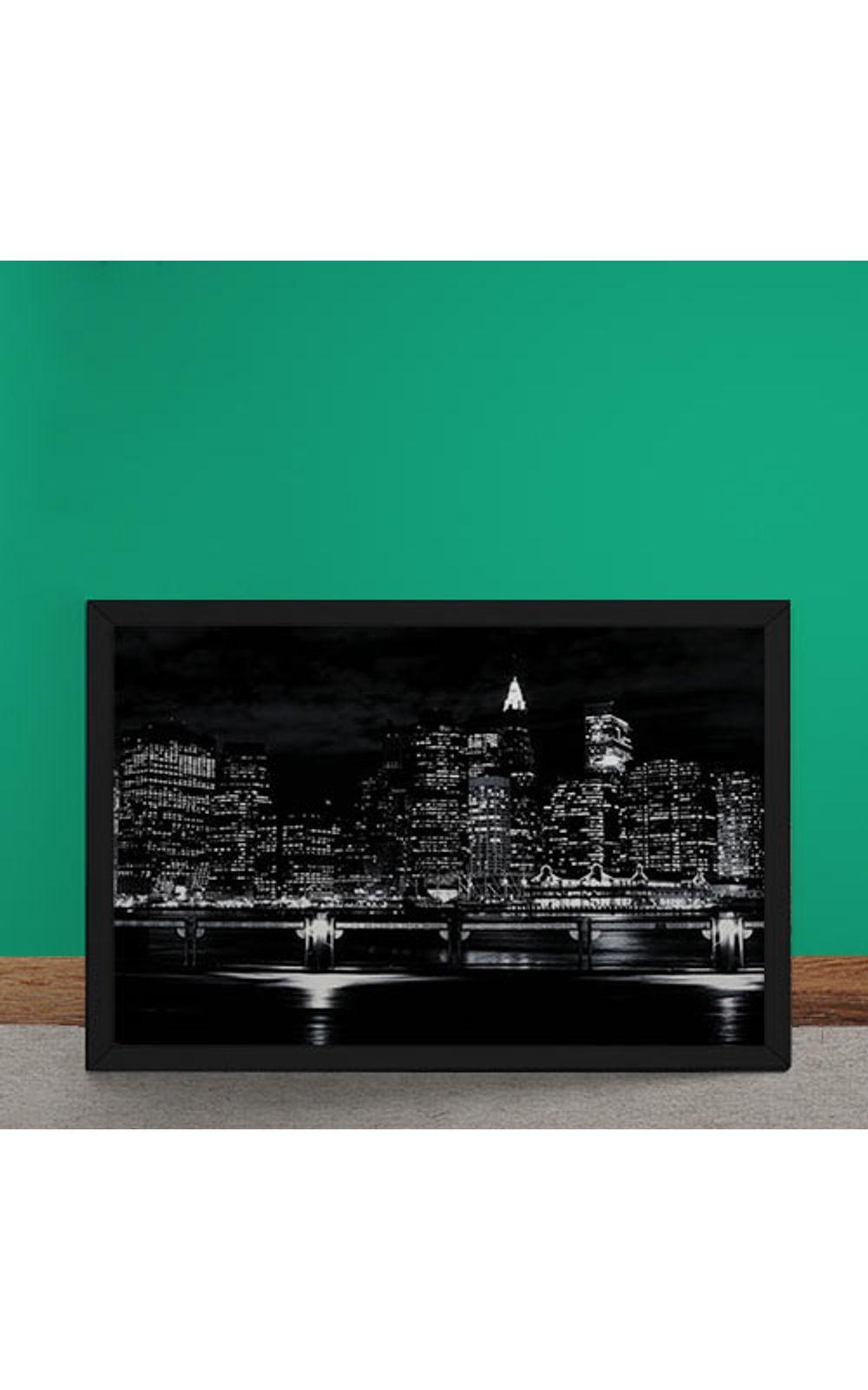 Foto 2 - Quadro Decorativo Luzes Noturna da Cidade